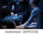 arrest of suspect man in...   Shutterstock . vector #287915720