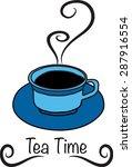 tea time | Shutterstock .eps vector #287916554