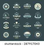 summer holidays labels design... | Shutterstock .eps vector #287917043