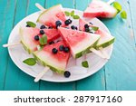Fresh Watermelon Popsicles Wit...