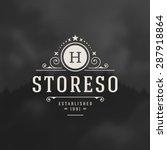 luxury logo template flourishes ...   Shutterstock .eps vector #287918864