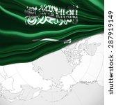saudi arabia  flag of silk and... | Shutterstock . vector #287919149