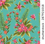 seamless pattern with beautiful ... | Shutterstock .eps vector #287921018