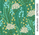 seamless pattern with small... | Shutterstock .eps vector #287921030