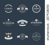 retro vintage logotypes or... | Shutterstock .eps vector #287928050