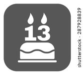 the birthday cake with candles...   Shutterstock .eps vector #287928839