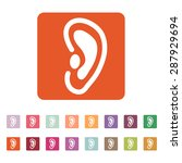 The Ear Icon. Listen Symbol....