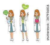 cute female doctor hands... | Shutterstock .eps vector #287936816