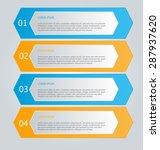 business infographics template... | Shutterstock .eps vector #287937620