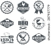 set of butcher shop labels and... | Shutterstock .eps vector #287937779