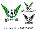 Winged Football Or Soccer Ball...