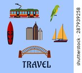 Australian Travel Concept With...