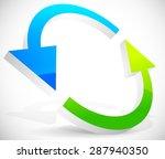 bright 3d arrows following a... | Shutterstock .eps vector #287940350