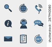flat support icons set.... | Shutterstock .eps vector #287943080