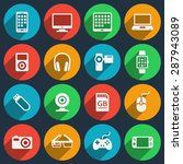 gadget icons set. phone and...   Shutterstock .eps vector #287943089