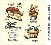 best confectionery set for your ... | Shutterstock .eps vector #287943869