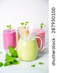fruit smoothies | Shutterstock . vector #287950100