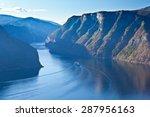 bird view of fjord in norway | Shutterstock . vector #287956163