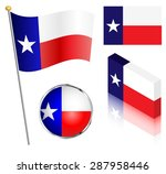 state of texas flag on a pole ... | Shutterstock .eps vector #287958446