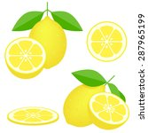 vector   lemons  four views.... | Shutterstock .eps vector #287965199