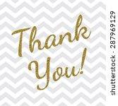 thank you card | Shutterstock .eps vector #287969129