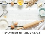 baking cake in rustic kitchen   ... | Shutterstock . vector #287973716