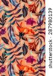 seamless tropical flower  plant ... | Shutterstock . vector #287980139