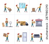 delivery person freight... | Shutterstock .eps vector #287980190