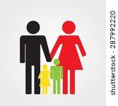 happy family icon color ... | Shutterstock . vector #287992220