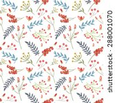 elegant seamless pattern with... | Shutterstock .eps vector #288001070