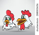 funny cartoon chicken | Shutterstock .eps vector #288003656