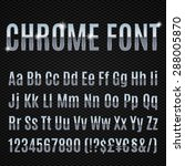 chrome alphabet letters numbers ... | Shutterstock .eps vector #288005870