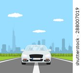 picture of car on the road with ... | Shutterstock .eps vector #288007019