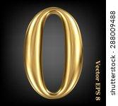 vector 3d golden number... | Shutterstock .eps vector #288009488