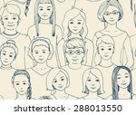 seamless pattern with the image ... | Shutterstock .eps vector #288013550