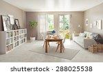 modern interior design. 3d... | Shutterstock . vector #288025538