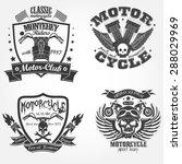 motorcycle label set  motor... | Shutterstock .eps vector #288029969