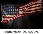 grunge american flag  close up. | Shutterstock . vector #288029996