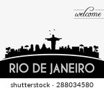 rio de janeiro brazil skyline... | Shutterstock .eps vector #288034580