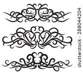set of lines vector decorative... | Shutterstock .eps vector #288044204