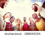 friends friendship leisure... | Shutterstock . vector #288045254