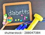 diabetes and self care concept.   Shutterstock . vector #288047384