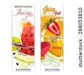banner with fruit in water... | Shutterstock .eps vector #288053810