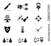 set of cancer treatment icon... | Shutterstock .eps vector #288062540