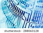 computer circuit board close up ...   Shutterstock . vector #288063128