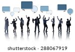 group of business people... | Shutterstock . vector #288067919