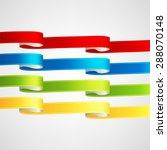 vector ribbons set | Shutterstock .eps vector #288070148