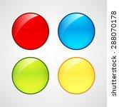 web buttons set | Shutterstock .eps vector #288070178