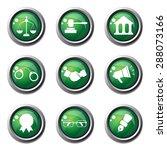 law sign green vector button... | Shutterstock .eps vector #288073166