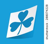sticker with clover image ...